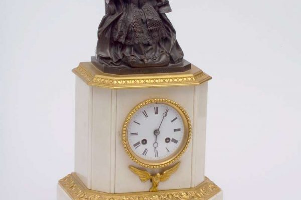 Silk Movement Mantle Clock Commemorating Election of Blessed Pius IX