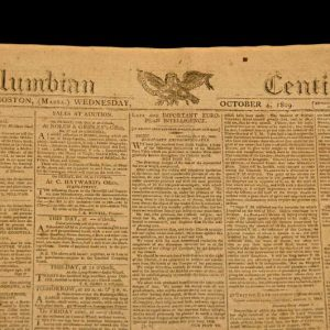 Newspaper From October 1809 Reporting Napoleon's Excommunication