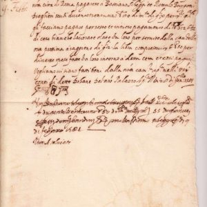 Signed Letter Dated, February 9, 1581