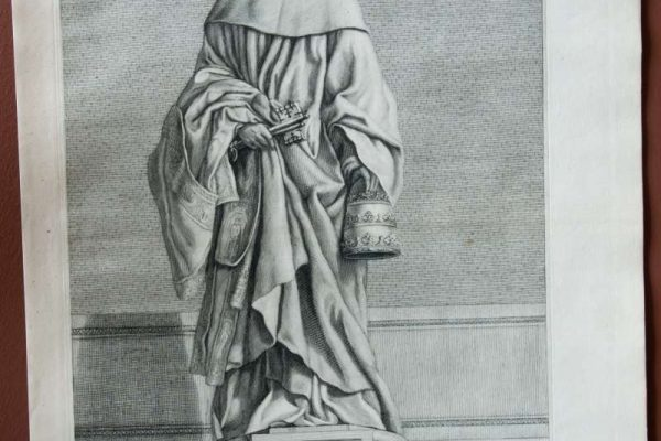 Original Engraving of Pope Saint Celestine V