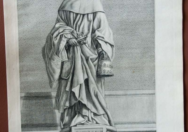 Original Engraving of Pope Saint Celestine V