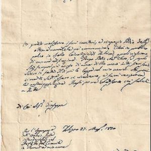 Letter and Signature of St. Gaspare