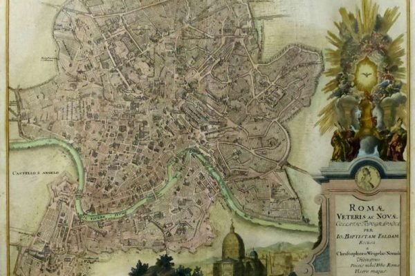 Etching of the City of Rome from 1718