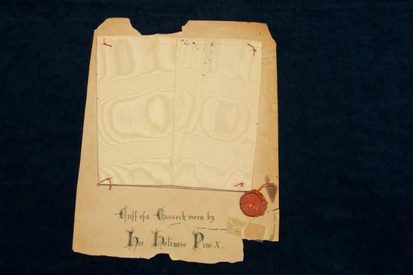Sleeve from a Cassock of Pope Saint Pius X