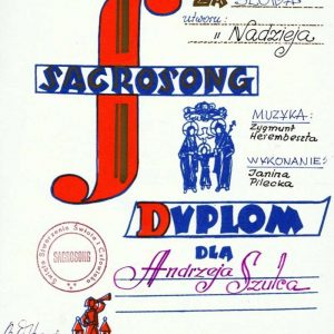 Diploma from the Polish Festival of Sacrosong, Dated 1977, Signed by Karol Wojtyla