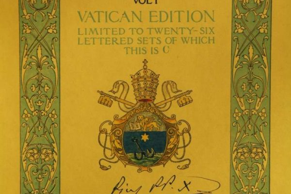 Commemorative First Edition of the Catholic Encyclopedia Signed by St. Pius X in 1917