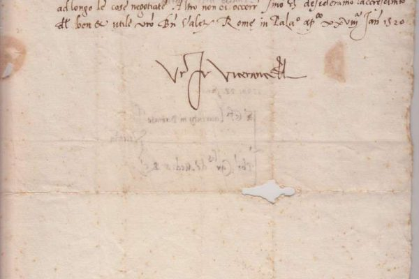 Document of Pope Clement VII,  Signed as Cardinal de' Medici