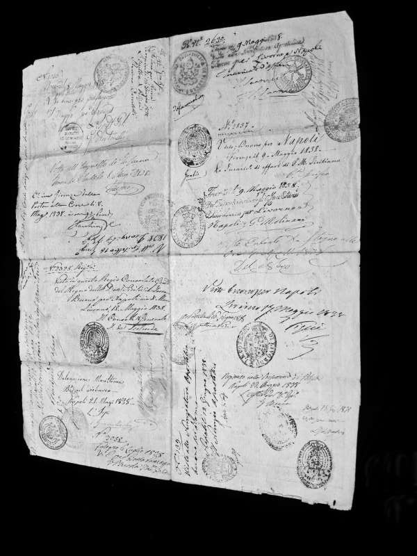 Pope Gregory XVI: Passport Issued by the Papal States to the Nephew