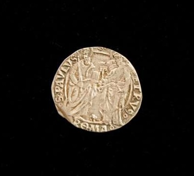 Silver Coin From the Pontificate of Alexander VI