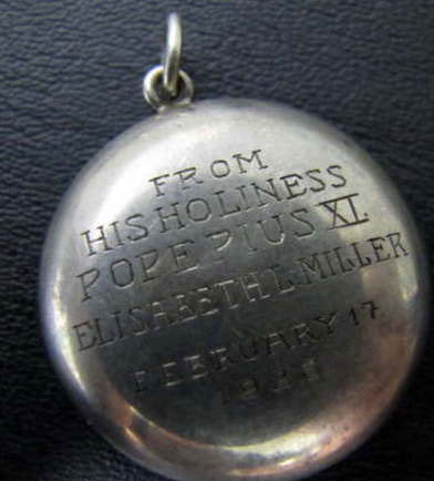 Rosary case with engraved name of recipient