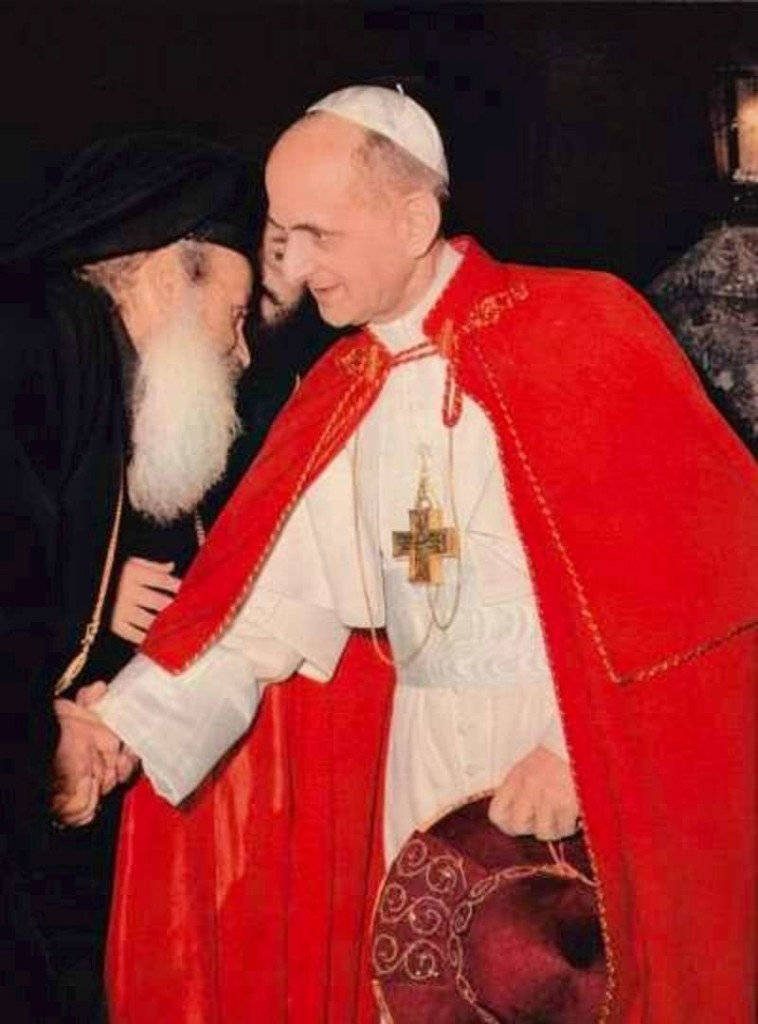 Pope Paul VI & Ecumenical Patriarch Athenagoras in 1964