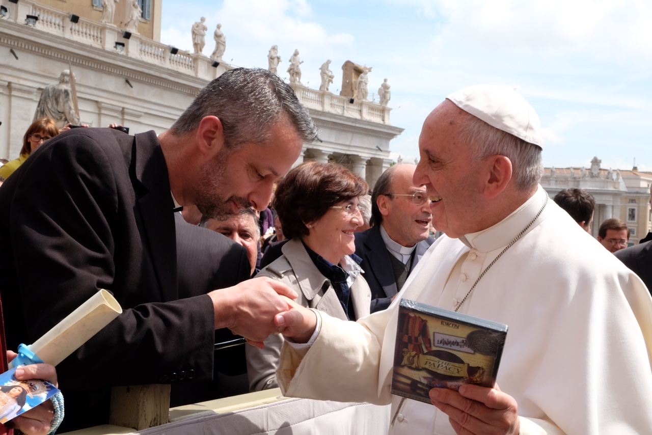 Fr Richard Kunst and Pope Francis