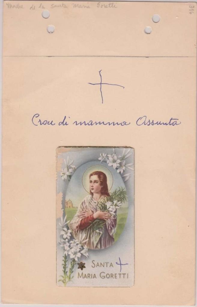 Holy Card St. Maria Goretti