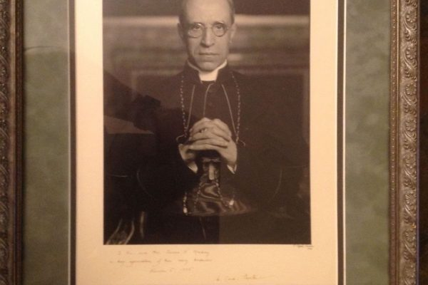 Venerable Pius XII: Framed Photo  as Eugenio Cardinal Pacelli