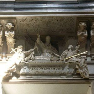 Tomb of Innocent X in the 17th Century Baroque Church in Rome