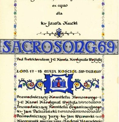 Pope John Paul II: Diploma from the Inaugural Sacrosong Festival, Dated 1969, & Signed as Cardinal