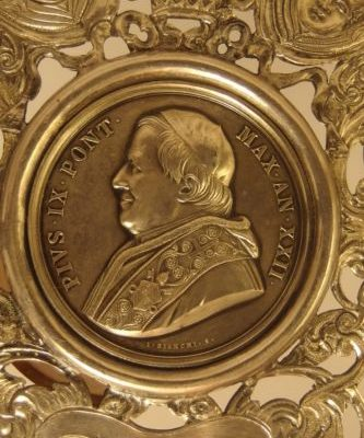 Pope Pius IX: Silver Medallion from 1867