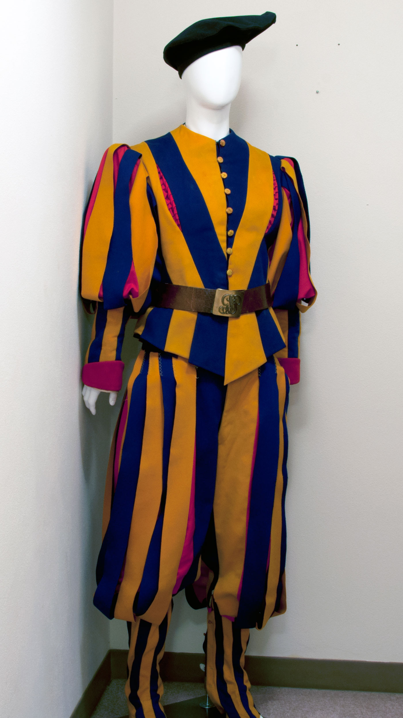 Swiss Guard uniform from the pontificate of Pius XII