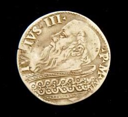 Silver Coin From the Pontificate of Julius III
