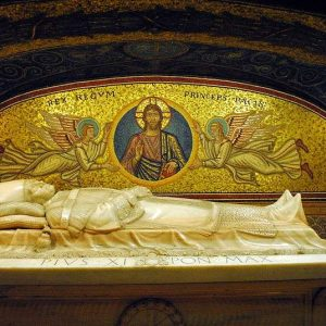Tomb of Pope Pius XI located in St. Peter's Basilica