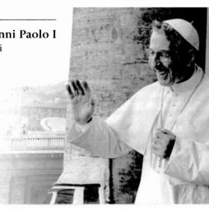 Holy Card Containing a Relic of the Pope John Paul I's Cassock Worn to the Conclave that Elected Him