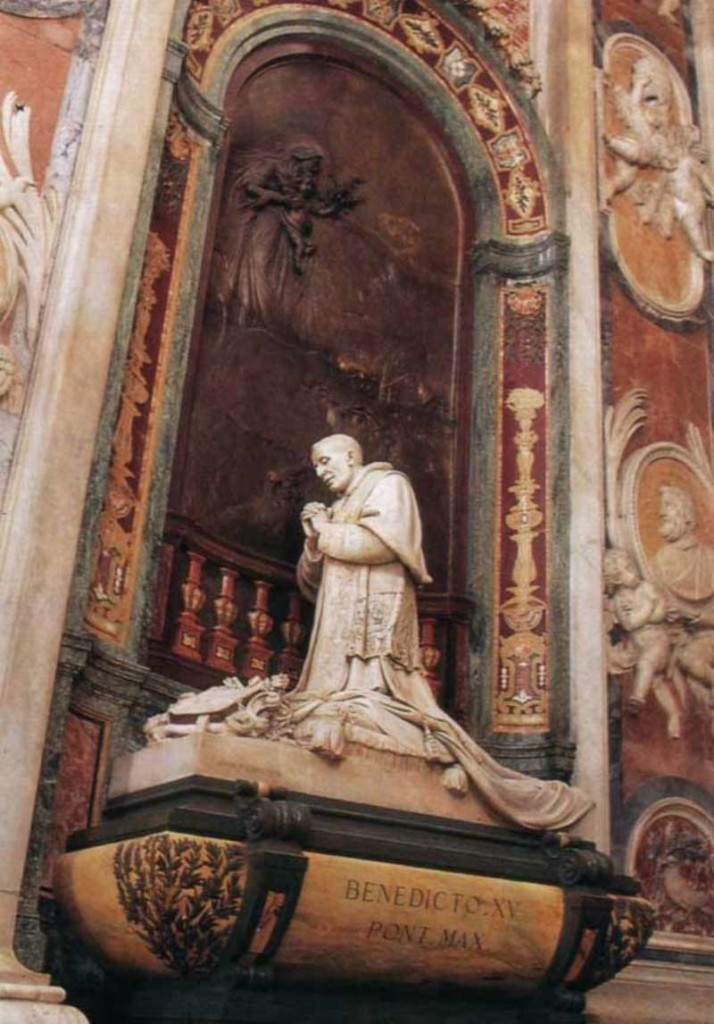 Monument dedicated to Pope Benedict XV located in St. Peter's Basilica