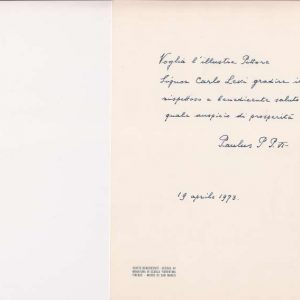 Signed Easter Card From April 19th, 1973 (inside)