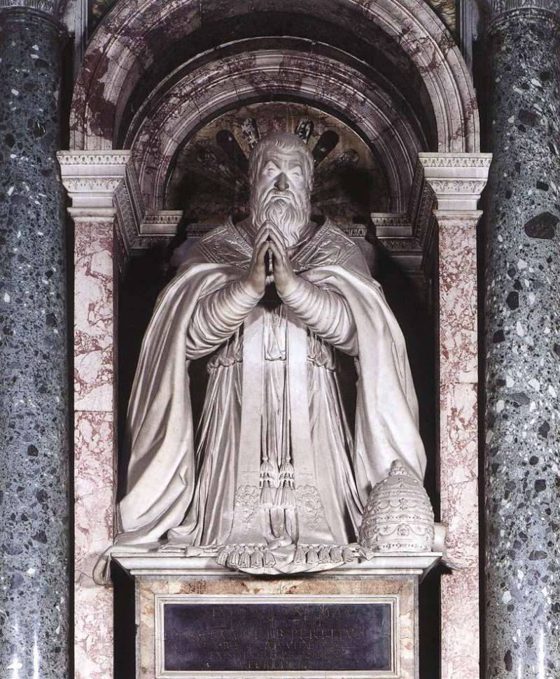 Tomb of Pope Sixtus V located in the Basilica of St. Mary Major