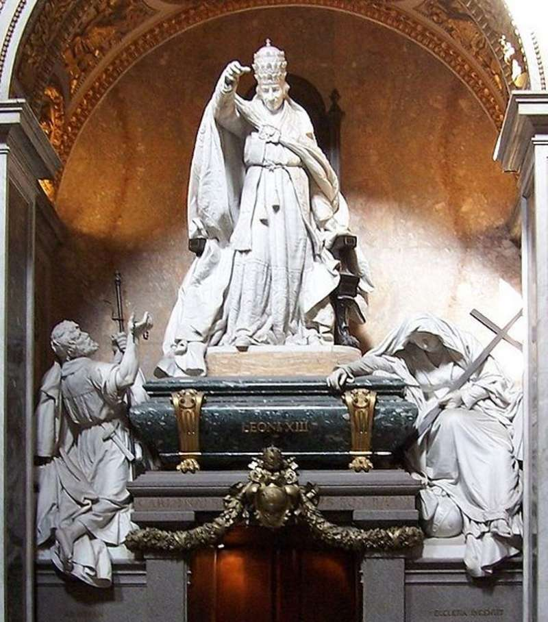 Tomb of Pope Leo XIII located in St. John Lateran Basilica