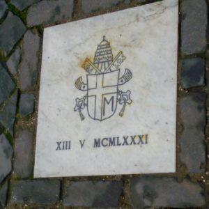 JP II Memorial Plaque