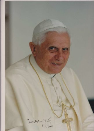 Autographed Color Photo of Benedict XVI