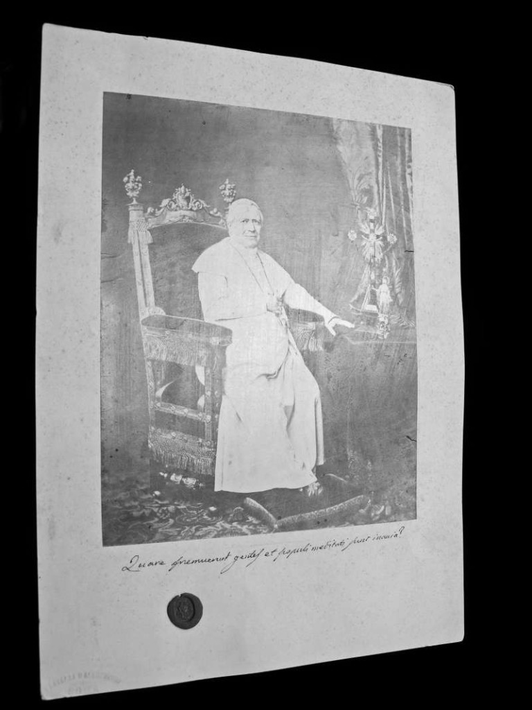 Photo of Blessed Pius IX Seated on the Throne