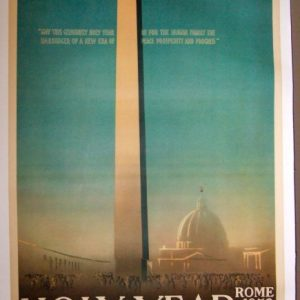 Holy Year Rome 1950 original travel poster from the pontificate of Pius XII