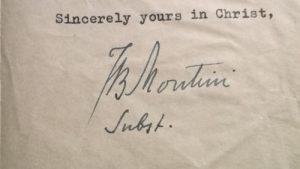 1949 Montini Letter: Signature