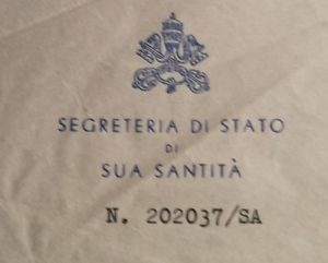 Montini 1949 Letter, Vatican Secretary of State Seal