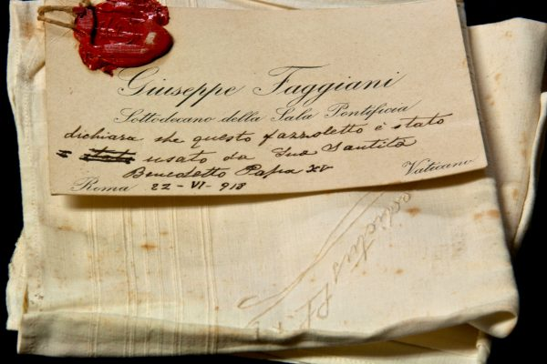 Pope Benedict XV: A Handkerchief Used by the Pope