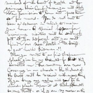 Father Damien of Molokai Letter Entirely in His Own Hand