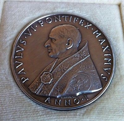 Pope Paul VI: A Medallion Issued in 1963