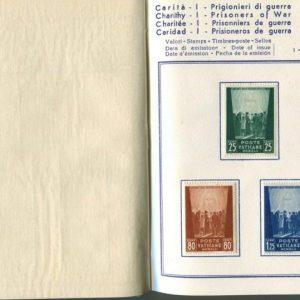 Stamp Album Prisoners of War, Pius XII