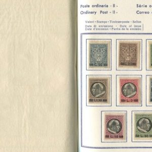Stamp Album, Pius XII, Ordinary Postage
