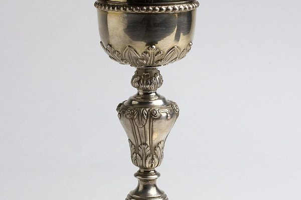 Popes Pius VII & Leo XII:  A Silver Chalice with the Coats of Arms of Both Popes