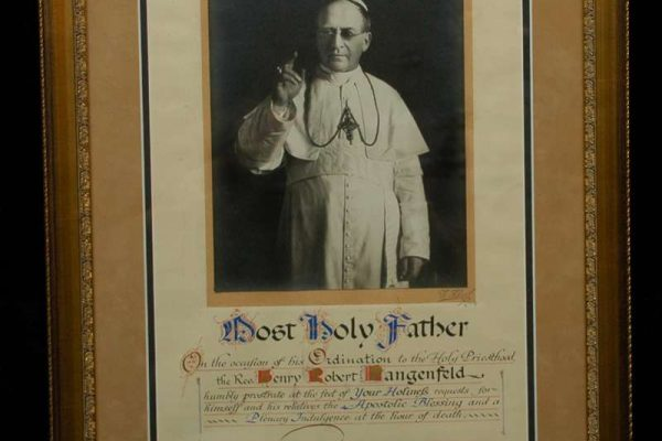Signed Framed Photo of Pope Pius XI
