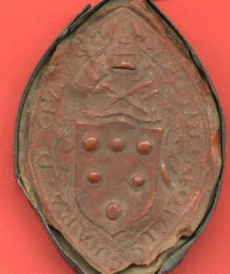 Pope Leo X: A Rare Seal Containing the Medici Coat of Arms