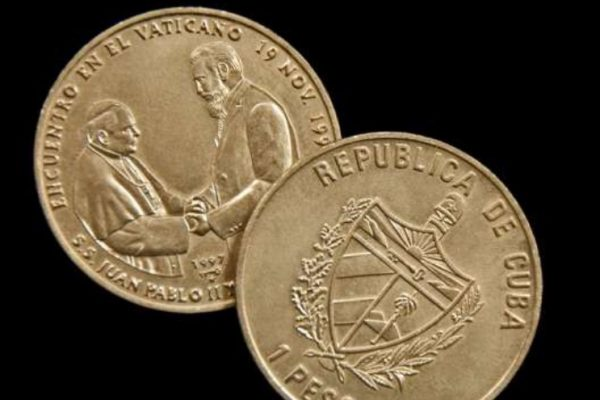 Two Pesos (Coins) From the Pontificate of Saint John Paul II