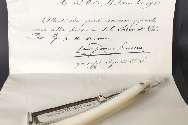 Pope St. Pius X: A Custom-Made Razor Used by the Pope