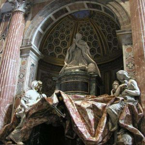 Monument for Pope Alexander VII by Bernini