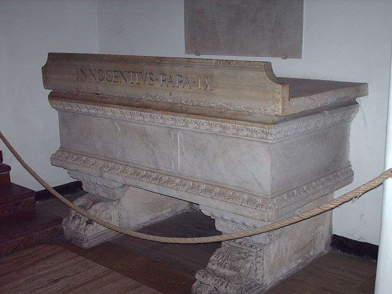 Tomb of Pope Innocent IX in St. Peter's Basilica in Rome