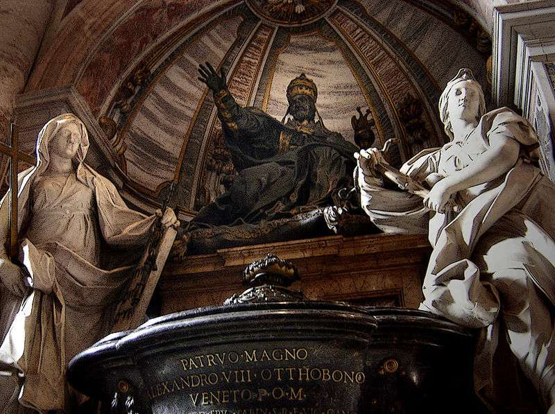 Tomb of Pope Alexander VIII in St. Peter's Basilica