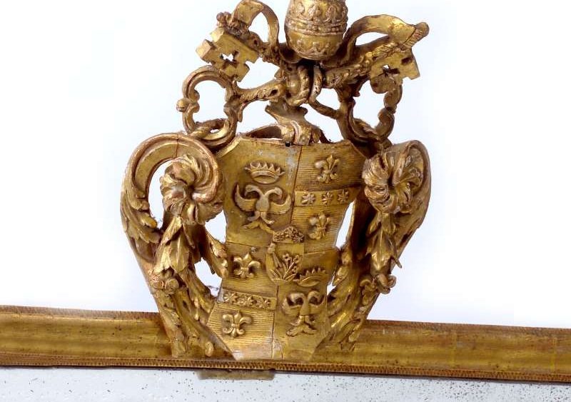 Mirror With the Coat of Arms of Pope Pius VI