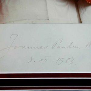 Photo With Signature of Pope John Paul II
